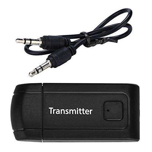 Greatangle-UK Transmisor de Audio Universal para computadora de TV Adaptador de Audio Transmisor de Audio inalámbrico Interfaz Plug and Play de 3,5 Mm
