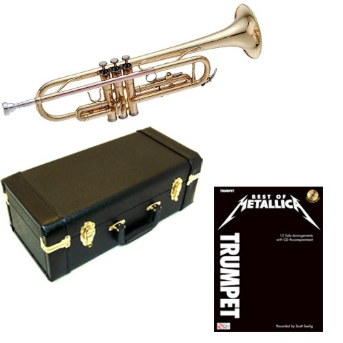 Best of Metallica Bb Student Trumpet Pack - Includes Trumpet w/Case & Accessories & Metallica Play Along Book