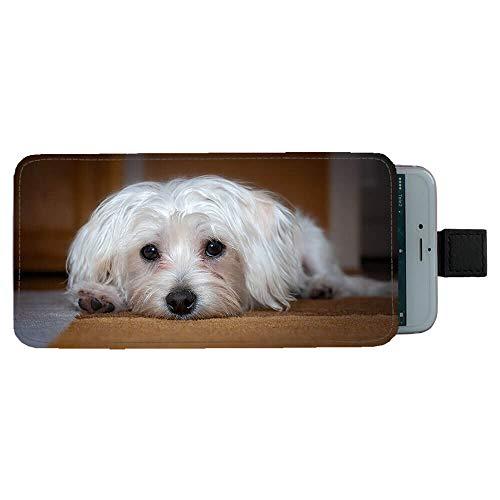 Giftoyo Bolso universal del teléfono celular del perro maltés
