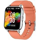 Smartwatch Naranja, 1.69' Reloj Inteligente Hombre Mujer 24 Modos Deporte IP68 Impermeable Reloj Deportivo Hombre con Pulsómetro Monitor de Sueño Monitores Cronómetro Calorías Podómetro (Android/iOS)