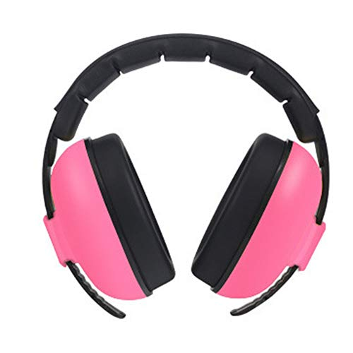 Peng sounded Safety Earmuffs Noise Cancelling Reduction Safety Ear Muffs With Noise Blocking Children Ear Muffs For Sleeping Studying Ear Protection (Color : Rose, Size : Free size)