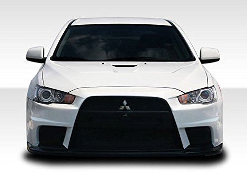 Brightt Duraflex ED-HPA-055 Evo X Look Front Bumper Cover - 1 Piece Body Kit - Compatible With Lancer 2008-2017