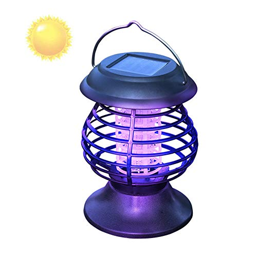 TYX SS Portable Solar Mosquito Fly Killer Lamp Bug Zapper 2 in 1 LED Camping Lantern UV Insect TrapInsect Repellent Outdoor Waterproof Lamp Garden Light