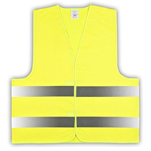 easyMesh 10er Pack Kinder Signalweste Warnweste Gelb Größe XS (ca.3-6 Jahre) e