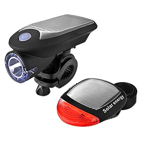 mingyangwl Luces Bicicleta Luces solares para Bicicletas Led 360 Grados Luces de Bicicleta giratorias Luces Delanteras y traseras