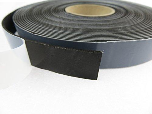 EPDM - Schaum Schwarz 20 mm x 2 mm. Länge: 10 m auf Rolle. einseitig selbstklebend