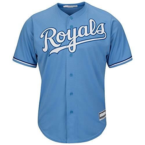 Outerstuff MLB Infants Toddler Blank Cool Base Alternate Road Team Jersey (Kansas City Royals Alternate Light Blue, 2T)