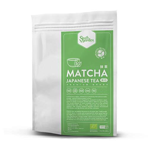 Bio Matcha Grüntee Pulver - 300 g | SOUTH GARDEN | Zeremonieller Matcha-Tee | Japanischer Matcha-Tee von höchster Qualität | Vegan | Glutenfrei | Milchfrei | Ohne Zuckerzusatz