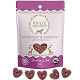 Joulie Organics - Superfood & Prebiotic Wellness Dog Treats   Organic   Human Grade   Plant-Based   Supports Digestive & Immune Health (Strawberry & Beet)