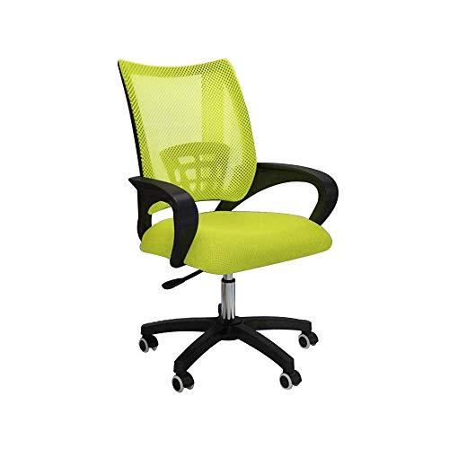 WSDSX Stuhl Ergonomischer Bürostuhl, drehbarer Executive-Schreibtisch mit hoher Rückenlehne, Schreibtisch-Rückenlehne Lordosenstütze Nennlastkapazität: 150 kg, grün