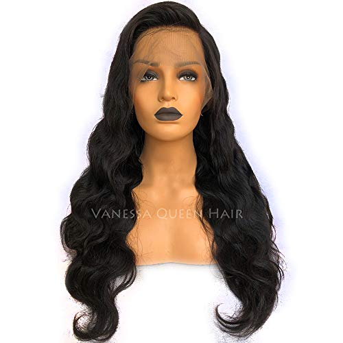 Maycaur Loose Wave Lace Front Wig Long Wavy Full Lace Wig Human Hair For Women Vigin Hair Wigs 150 Density (22 inch, lace front)