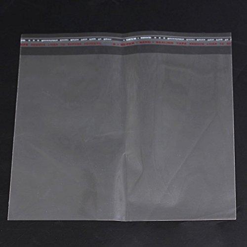 SiAura Material ® - 50 x självhäftande plastpåsar 18 x 15 cm