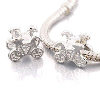 Andante-Stones Silber Bead Bike Element Kugel für European Beads + Organzasäckchen