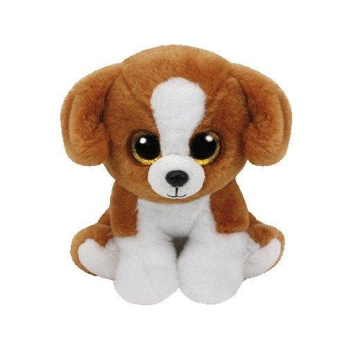 Carletto Ty Snicky Brown Dog TY 42182 Hund mit Glitzeraugen, Weiß/braun