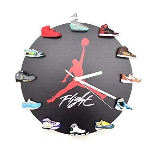 LORT Creative Clock, 3D Mini Sneakers Reloj de Pared con decoración de...