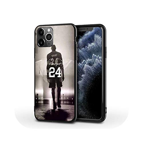 Kobe Legend - Carcasa de plástico para iPhone 5, 6, 7, 8 Plus, 11, 12 XS, a prueba de golpes