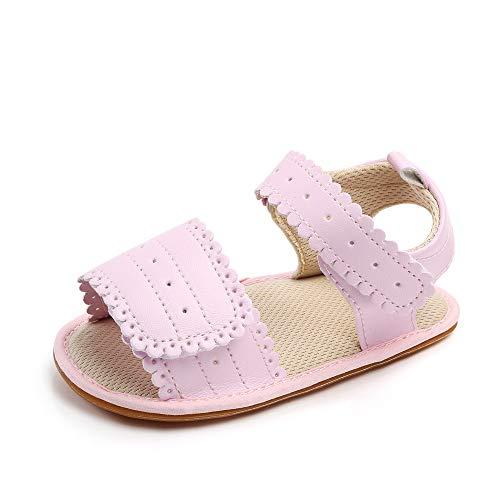 Baby Sandalen Mädchen Sommer Baby Schuhe Babyschuhe Anti-Rutsch Flach Pink 0-6 Monate
