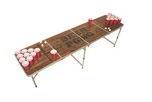 Beer Pong Tisch, Beer Pong Table inkl. Regelwerk, 6 Bällen und 22 Cups, 1