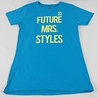 Juniors NEW Blue One Direction 1D Future Mrs. Styles Harry T-Shirt