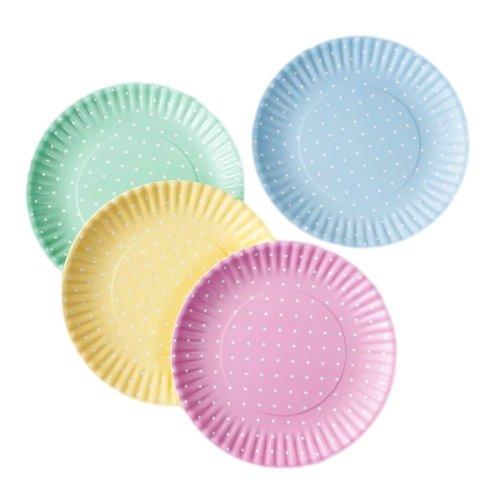 Pastel Polka Dot Picnic/Dinner Plate, 9