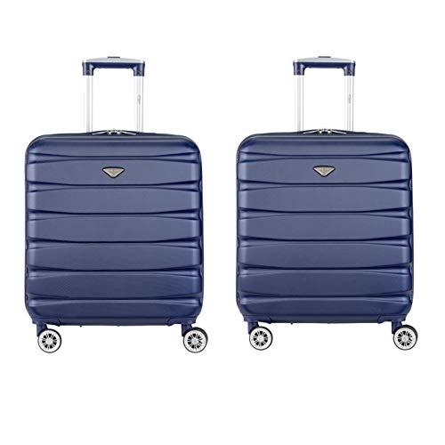 Flight Knight Lichtgewicht ABS-koffer met 8 wielen Handbagagekoffers Exacte en maximale grootte voor easyJet, British Airways, Jet2