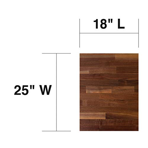John Boos WALKCT-BL1825-O Blended Walnut Counter Top with Oil Finish, 1.5