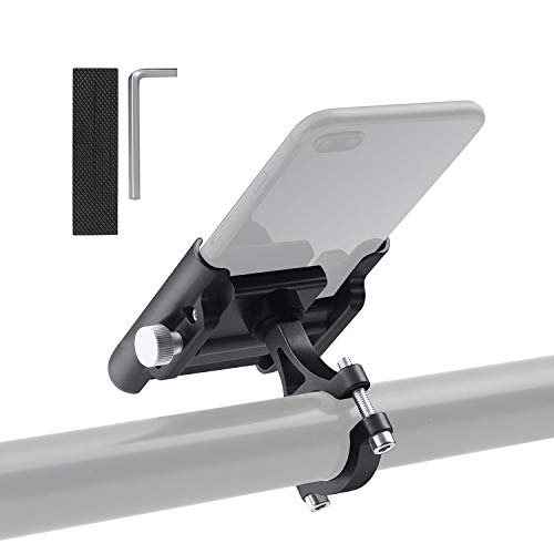 JEEZAO Universal Soporte Movil Manillar Bici Patinete BicicletaMTB, Aluminio, Rotación 360° Soporte para 3.5 a 7.2 Pulgadas Teléfono