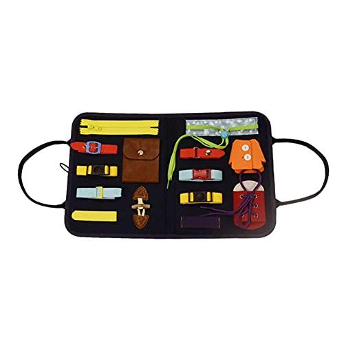 cypressen Tabla de actividades educativas para niños pequeños, de Montessori, para aprender a vestir, etc.