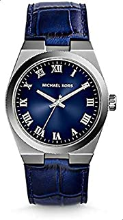 Michael Kors MK2355 38mm Stainless Steel Case Blue Leather Mineral Women's Watch
