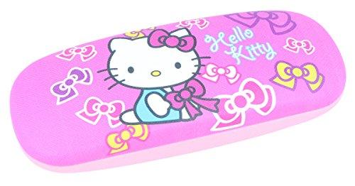 süßes Brillenetui für Kinder | Hello Kitty in rosa/pink mit Schleifchen