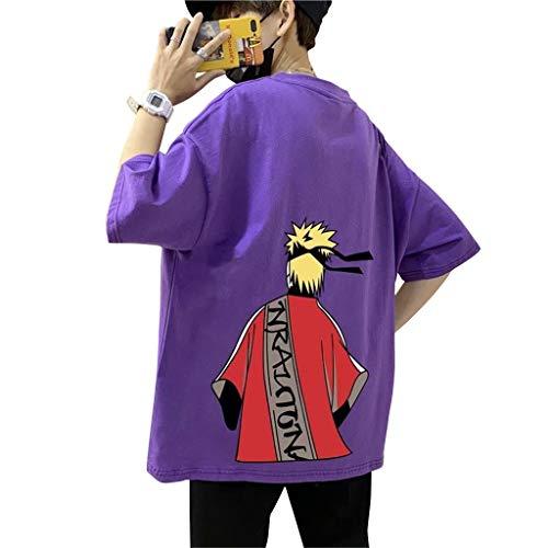 Maglietta Naruto per Uomo Donna, 3D Uchiha Sasuke Itachi Akatsuki Naruto Anime Cosplay T Shirt Moda Casuale Manica Corta Tee Maglia Shirt Camicia Camicetta Tops per Unisex Adulto Bambino (5Z,XL)