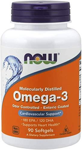NOW Omega-3 1000mg Enteric Coated (18/12) 90 Gel, 90 g
