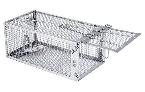 AB Traps Quality Live Animal Humane Trap Catch and Release Rats Mouse Mice Rodents Cage - Voles Squirrel and Similar Sized Pets Safe and Effective | Size Small