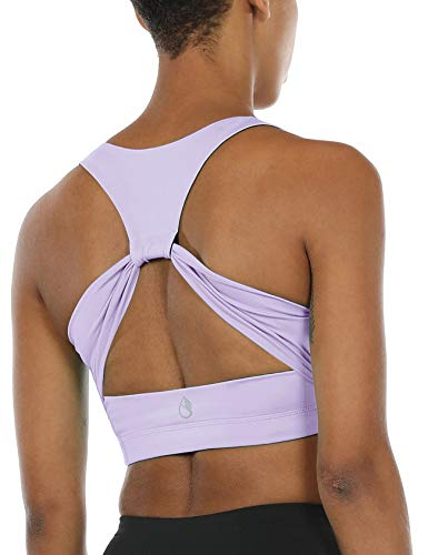 icyzone Workout Yoga Sujetador Deportivo Ejercicio Fitness Ropa Interior para Mujer (M, Lila)