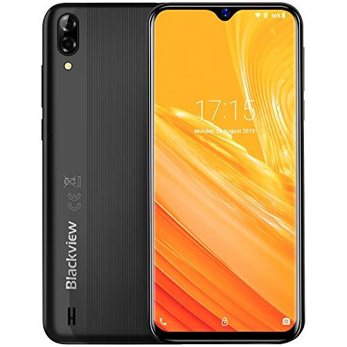 Blackview A60 Smartphone ohne Vertrag, 4080mAh Akku, 6,1 Zoll, 13MP+5MP Kamera, DREI Kartenfächer, Android 8.1 Go Ausführung 16GB ROM Dual SIM Günstige Handy (Schwarz)