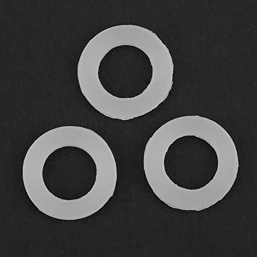 Xuzuyic Arandelas de Sellado de Junta tórica de Silicona de Junta Plana 12 Piezas Blancas Arandelas de Sellado de Silicona usable(3/4')
