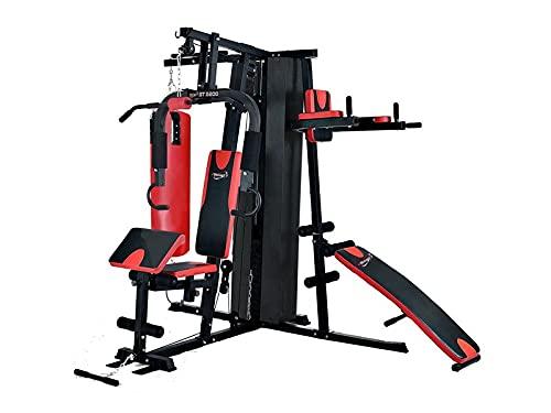 TECNOFIT Palestra Multistazione Home Gym Gym ST 5200 - ST 5250 3 stazioni con 95 kg Pacco Pesi e Sacco Boxe