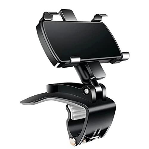 スマホ車載ホルダー クリップ式 車 携帯ホルダー 高安定性 自由調節 カーマウント片手操作 取付簡単 4〜7インチのスマホ対応
