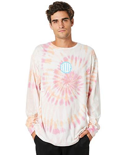 HUF High Definition Camiseta manga larga Hombre Rosa L (Large)