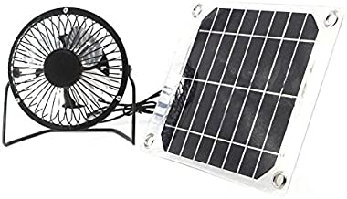 Solar Fan 5W 4 inch Free Energy for Greenhouse Motorhome House Chicken House Outdoor Home Cooling Chicken coop