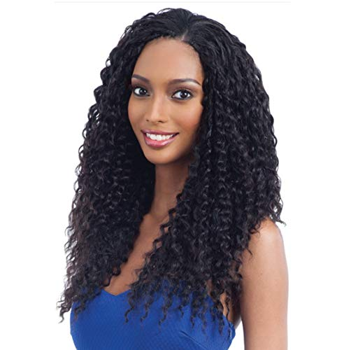 "MULTI-PACK DEALS! Saga Human Hair Crochet Braids Pre Loop Type Super Curl With FREE GIFT (14"", 2 PACKS - COLOR 1B)"