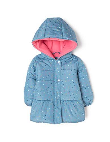 ZIPPY Chaqueta Acolchada con Capucha para bebé, Azul (Blue Heaven 17/4023 3492), 74 (Tamaño del Fabricante:6/9M) para Bebés