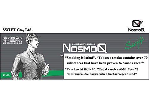[NosmoQ] Herbal Sticks, 1 Karton (10packs-200 Sticks), Menthol-Geschmack , Non-Tabak, Kein Nikotin, Keine süchtig machenden Chemikalien für die Gesundheit, 100{46552b95a8f3e8309f554f9e6e27b1fd557043d8b9affac05affbec0a16d046e} Kräuter aus der orientalischen Medizin verwendet.