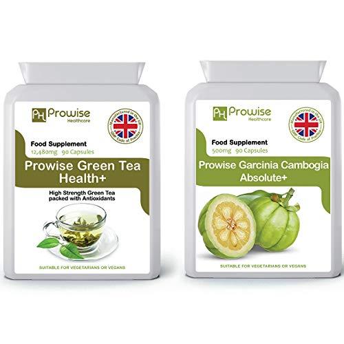 Tè verde + Garcinia Cambogia 500mg 60capsule Dimagrimento dimagrante - Aiuta a perdere grasso per uomo e donna - Raggiungi obiettivi di perdita di peso Pillole dimagranti con bruciatore di grassi