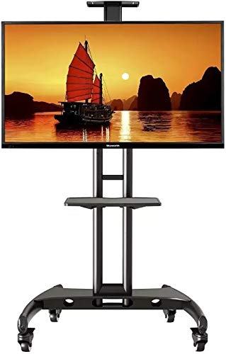 """32-70"""" LED LCD TV Portable Wheel Stand for presentations, Office, Portable, Home (for 32-70"""" with Wheels 1 Shelf)"""