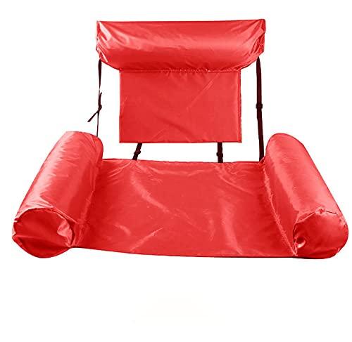 Hamaca de agua,hamaca de agua inflable,cama flotante,sillón,piscina,flotador de playa,para adultos,juguetes de fila flotante para interiores y exteriores,adecuados para adolescentes y adultos