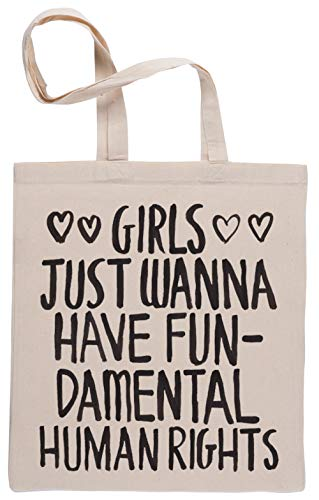 Girls Just Wanna Have Fundamental Human Rights Bolsa De Compras Shopping Bag Beige