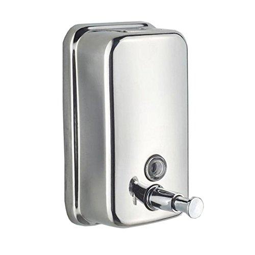 Binnan Dispensador de Jabón Líquido Manual para en Pared, Acero Inoxidable 500ml