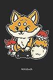 Notizbuch: Fuchs mit Kindern am Video Game spielen (Liniertes Notizbuch mit 100 Seiten für Eintragungen aller Art)