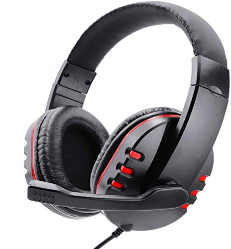 Poulep Gaming Headset for PS3, Wired USB Port Stereo Micphone Headphone Earphone for Playstation 3 PC Game Steam